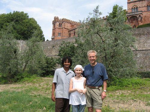 Behind Castello Brolio